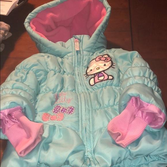 b7e023205 Hello Kitty Jackets & Coats | Blue Pink Winter Coat | Poshmark
